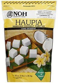 haupia hawaiian coconut pudding NOH Foods of Hawaii Nutrition info