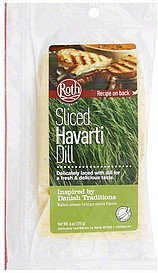 havarti sliced, dill Roth Nutrition info