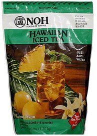 hawaiian iced tea lemon flavor NOH Foods of Hawaii Nutrition info