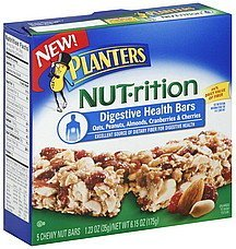 health bars digestive Planters Nutrition info