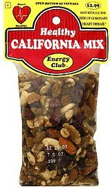 healthy california mix Energy club Nutrition info
