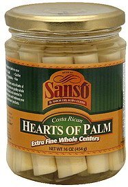 hearts of palm costa rican, extra fine whole centers Sanso Nutrition info