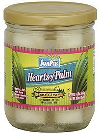 hearts of palm crisp & zesty SunPix Nutrition info