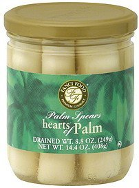 hearts of palm palm spears Fanci Food Nutrition info