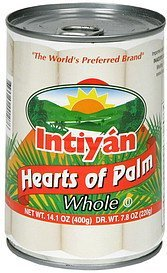 hearts of palm whole Intiyan Nutrition info