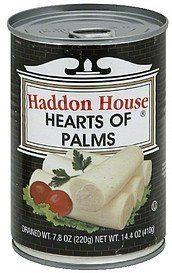 hearts of palms Haddon House Nutrition info