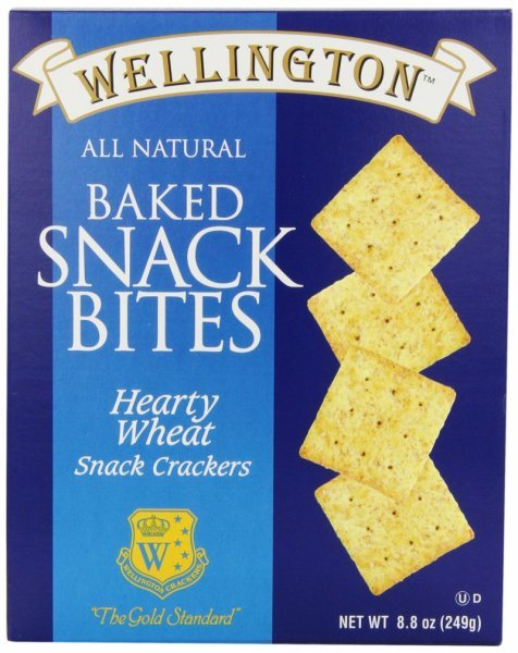 hearty wheat snack crackers Wellington Nutrition info