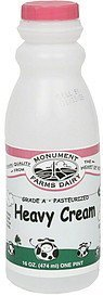 heavy cream Monument Farms Dairy Nutrition info