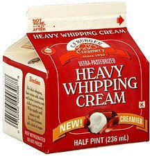 heavy whipping cream C.F. Burger Creamery Nutrition info