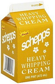 heavy whipping cream Schepps Nutrition info
