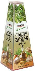 herb seasoning hyssop za'atar with garlic Pyramid Nutrition info
