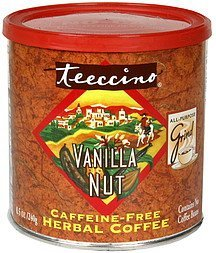 herbal coffee caffeine-free, all-purpose grind, vanilla nut Teeccino Nutrition info