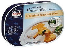 herring fillets in mustard sauce a la dijon Appel Nutrition info