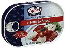 herring fillets in tomato sauce Appel Nutrition info