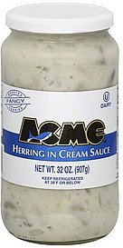 herring in cream sauce ACME Nutrition info