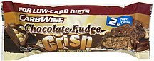 high protein bar chocolate fudge crisp CarbWise Nutrition info