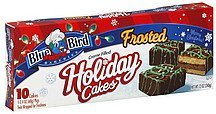 holiday cakes frosted, creme filled Blue Bird Bakeries Nutrition info