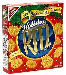 holiday crackers fun snowflake shape Ritz Nutrition info