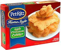 home style apple cinnamon cobbler Pet-Ritz Nutrition info