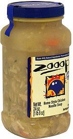 home style chicken noodle soup Zooop! Nutrition info