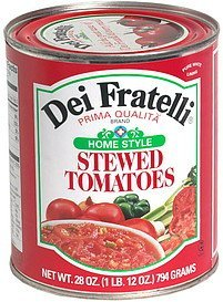 home style stewed tomatoes Dei Fratelli Nutrition info