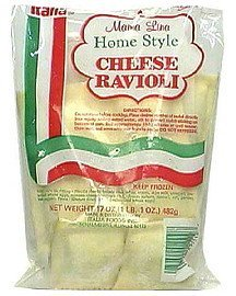home syle cheese ravioli Mama Lina Nutrition info