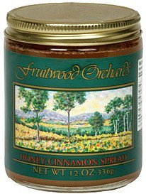 honey-cinnamon spread Fruitwood Orchards Nutrition info
