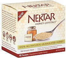honey crystals Nektar Nutrition info