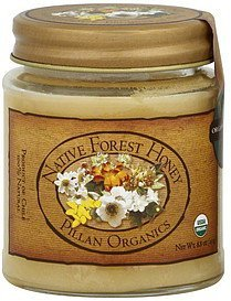honey native forest Pillan Organics Nutrition info