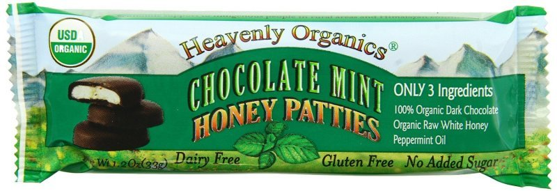 honey patties chocolate mint Heavenly Organics Nutrition info