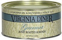 honey roasted almonds gourmet Virginia Diner Nutrition info