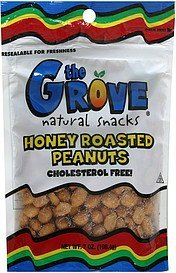 honey roasted peanuts The Grove Nutrition info