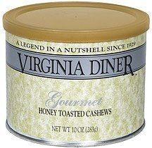 honey toasted cashews gourmet Virginia Diner Nutrition info