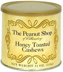 honey toasted cashews The Peanut Shop Nutrition info