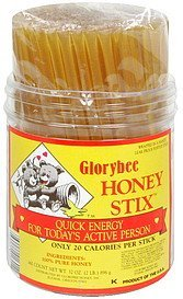 honeystix GloryBee Nutrition info