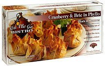 hors d'oeuvres cranberry & brie in phyllo On the go Bistro Nutrition info