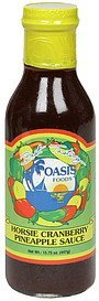 horsie cranberry & pineapple sauce horsie cranberry pineapple sauce Oasis Foods Nutrition info