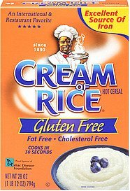 hot cereal gluten free Cream of Rice Nutrition info
