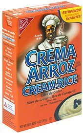 hot cereal Cream of Rice Nutrition info