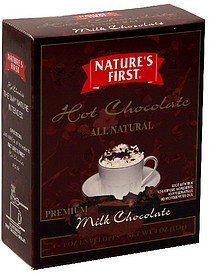 hot chocolate milk chocolate Nature's First Nutrition info