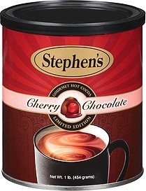 hot cocoa gourmet cherry chocolate Stephens Nutrition info
