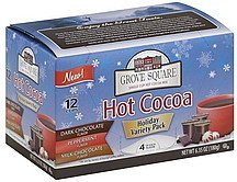 hot cocoa holiday variety pack Grove Square Nutrition info