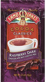 hot cocoa mix raspberry dark chocolate Land O Lakes Nutrition info