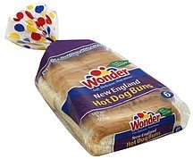 hot dog buns new england Wonder Nutrition info