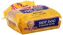 hot dog buns sliced Mary Jane Nutrition info