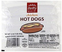 hot dogs chicken Thrifty Maid Nutrition info