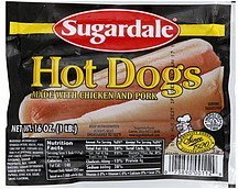 hot dogs Sugardale Nutrition info