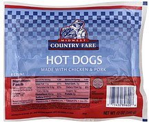 hot dogs Midwest Country Fare Nutrition info