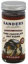 hot fudge dark chocolate Sanders Nutrition info