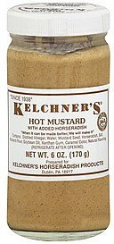 hot mustard with added horseradish Kelchners Nutrition info